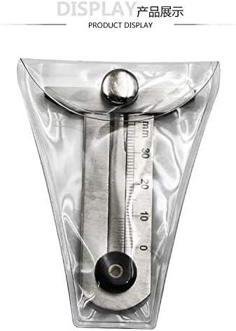 IQQI Acciaio Inox Tire del Calibro di profondit/à 0-30Mm di profondit/à di Impronta Calibro Portatile della Gomma Sicurezza dei Pneumatici Righello per La Sicurezza Auto