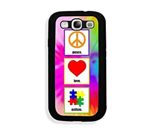 Galaxy S3 Case - Galaxy S III Case - Shawnex Peace Love Autism Samsung Galaxy i9300 Case Snap On Case