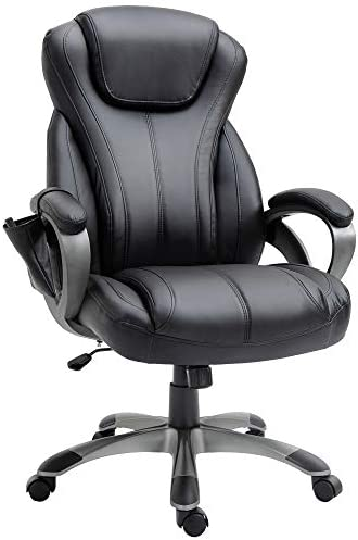 Vinsetto 4-Point Vibration Massage Executive Office Chair High Back Height Adjustable Padded Seat