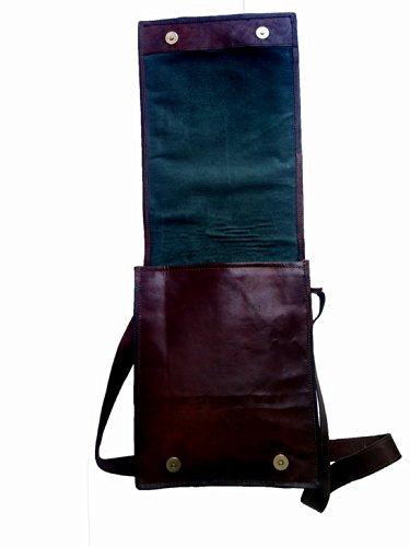 Genuine Men's Auth Real Leather Vintage Verticle Messenger Satchel Mens Ipad Bag