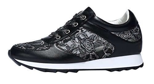 Guciheaven 2015 Spring New Style Lace Mesh Increased Within Breathable Sports Causal Shoes(7.5 B(M)US, Black)