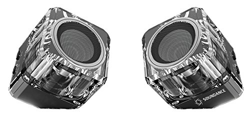 Soundance Bluetooth Speakers with Bluetooth 4.1 TWS(True Wireless Stereo) EDR(Enhanced Data Rate) & Full Sound Speaker. Two-Speaker package for Dual-Channel Wireless Stereo System, Black