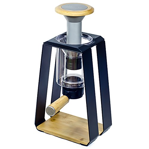 Trinity ONE 3-in-1 Press, Drip, Immersion Specialty Coffee Maker, Black