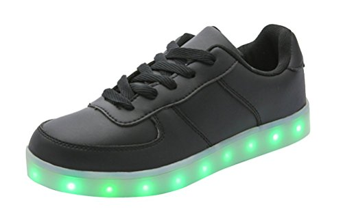 Sneaker Mode Eclairage Couleur Lumière Brillant 7 Lumineux Noir Chaussure Clignontant Changeable Mixte Kefan Tennis Usb Adulte Led Homme Charge Sport Femme Basket S8qRnEf