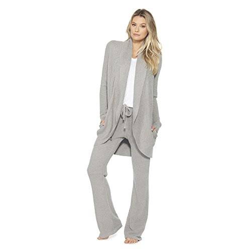 Barefoot Dreams Bamboo Chic Lite Circle Cardi (X-Small, Pewter)