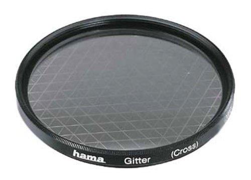 Hama Effekt-Filter, Sternfilter, 8-strahlig, 2-fach Vergütung, Für 58 mm Foto-Kameraobjektive, Gitter