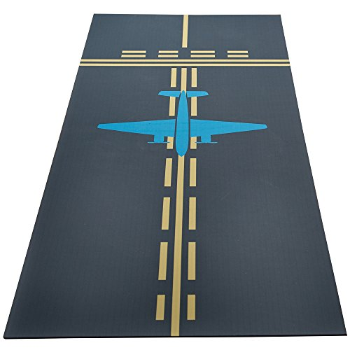 Machine Washable Taxiway Hallway Runner Mat 60 Inches Long 25 Inches ()