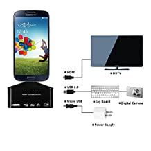 xhorizon TM SR Multi-functional 3 in 1 Micro USB OTG Sd Card Reader & MHL to Hdmi Hdtv Adapter for Samsung Galaxy S3/S4 Note 2 N710