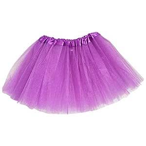 Kuvuiuee - Falda de danza para bebé, tres capas, con lentejuelas ...