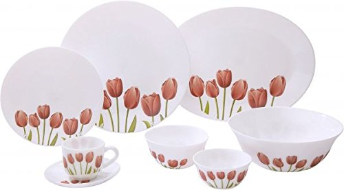 LaOpala Tulip Garden Dinner Set, 19-Pieces, Multicolour