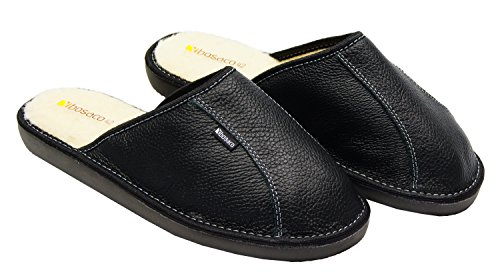 Of Wool Bosaco Leather World Slippers Black Mens pxqqRBw5H
