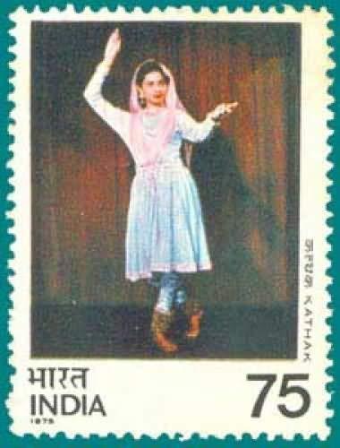 Sams Shopping Kathak Dance Costume Classical Dance 75 P Stamp ()