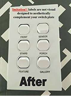 a7f8f936bedd Amazon.com: Neato Custom Blank Light Switch Plate Decals - Removable ...