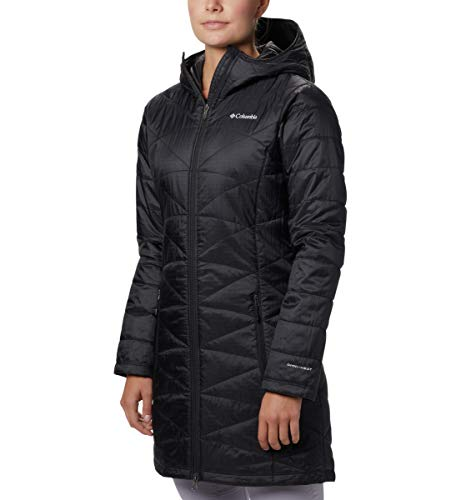 Columbia Women's Mighty Lite Hooded Jacket, Black, Large (Womens Columbia Omni Heat Jacket)