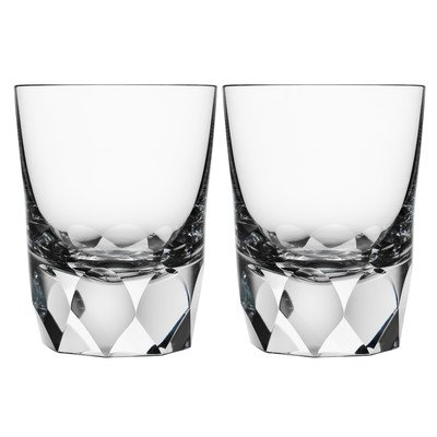 Orrefors Kosta Boda Carat Double Old Fashioned Glass (Set of 2)
