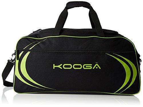 Kooga Men's Essentials Kit Bag - Black/Lime, One Size by Kooga