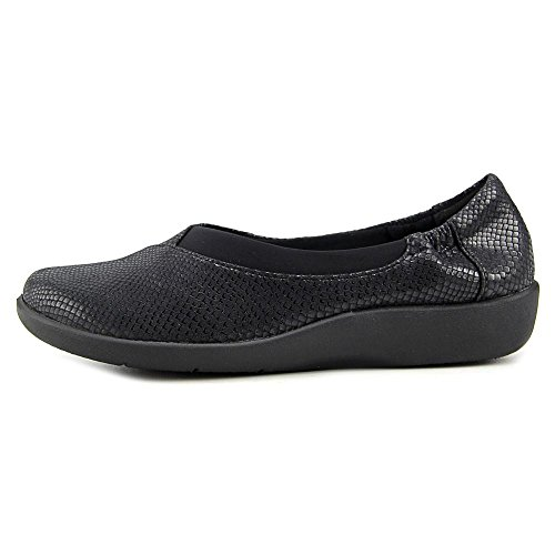 Black Pour Flat Cloudsteppers Snake Sillian Jetay Clarks Femme Print FawnYS