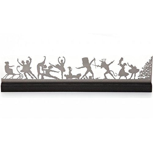 [Valerie Atkisson Mantel Nutcracker Ballet Scene, Brushed Steel] (Traditional Costume Contemporary Dance)