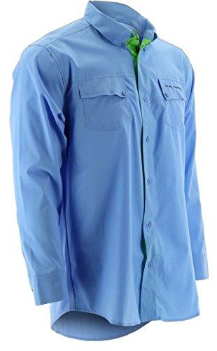 (HUK Performance Fishing Men's Phenom Long Sleeve Shirt, Carolina Blue, Medium)
