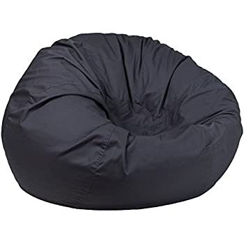 Flash Furniture Oversized Solid Gray Bean Bag Chair