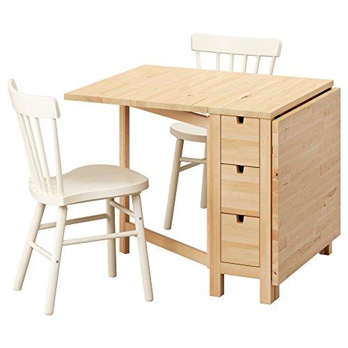 IKEA NORDEN / NORRARYD - Mesa y 2 sillas de abedul / blanco