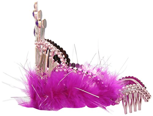 One Rhode Island Novelty Birthday Marabou Princess Pink Tiara - http://coolthings.us
