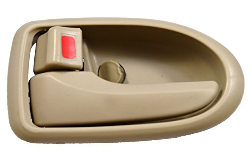 PT Auto Warehouse MA-2801E-LH - Inside Interior Inner Door Handle, Beige/Tan - Driver - Mazda Mpv Interior