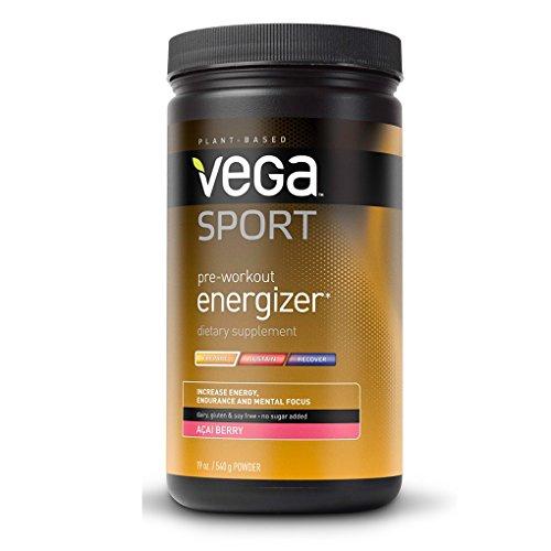 Vega Sport Pre-Workout Energizer, Acai Berry, remous, 19 oz