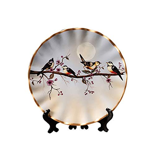 ZHAMS 8'' Ceramic Decorative Plate, Art Decoration (B)