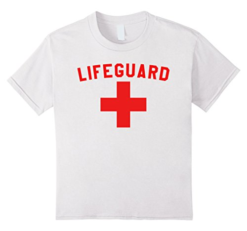Kids Lifeguard Shirt Lazy Halloween Costume For Women, Men & Kids 12 White