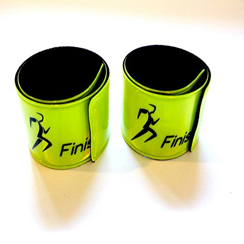 Finish It! Gear - 2, 4 & 6 Packs. Reflective Snap Wrist & Ankle Pop Bands - Reflective Gear for Running. Perfect for Runners, Men & Women, Walking, Biking, Pets, and Children for Night Safety!