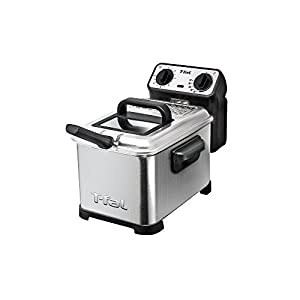 T-fal FR3900 Triple Basket Deep Fryer with Stainless Steel Removable Pot and Professional Heating Element, 4-Liter, Stainless Steel 41FBATXQCdL