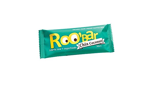 roobar – Barra Energética Bio & Vegan – Chia & Coco: Amazon ...