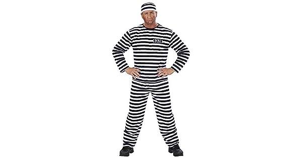 Amazon.com: Convict traje (L), color negro/blanco (Coat ...