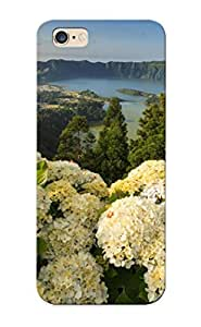 Goldenautumn Hot Tpye Portugal Hydrangeas Mountain Landscape Lake Case Cover For Iphone 6 Plus For Christmas Day's Gifts