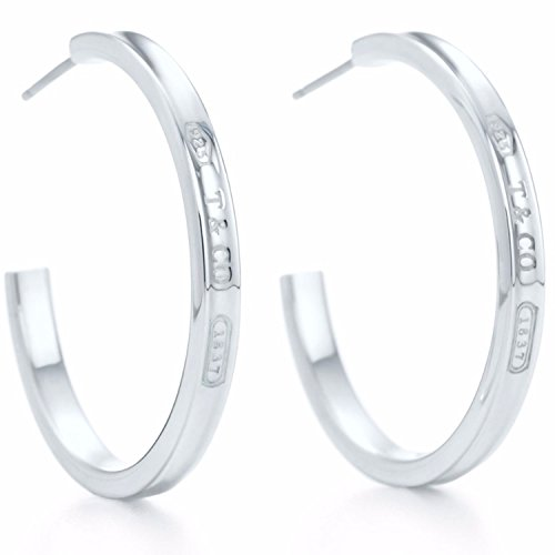 1837 Collection (SILVERLIGHT 1837 Collection narrow hoop earrings in sterling silver for women)