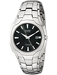 Citizen Mens Eco-Drive Tintanium Watch, BM6560-54H