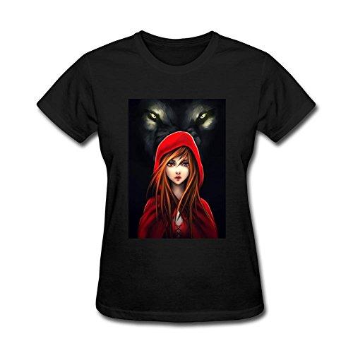 XIULUAN Women's Little Red Riding Hood Cool T-shirt Size XXL ColorName -