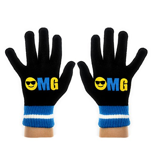 Youth Knit Gloves Teal