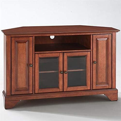 Pemberly Row 48 Corner TV Stand in Classic Cherry