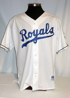 Kansas City Royals Authentic Russell Home Jersey with, used for sale  Delivered anywhere in Canada