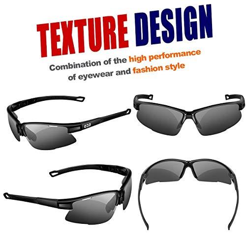 32c3f3743e7 O2O Polarized Sports Sunglasses Tr90 Frame Sport Sunglasses for Men Women  Teens Comfortable and Fit for