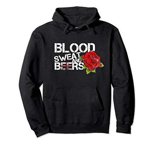 Blood Sweat Beers Hoodie England Flag Rugby Six Nations