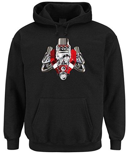 Hot Rod Engine Hooded Sweater Black Certified Freak