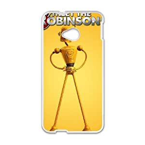 HTC One M7 Cell Phone Case White Disney Meet the Robinsons Character Carl the Robot R3351575