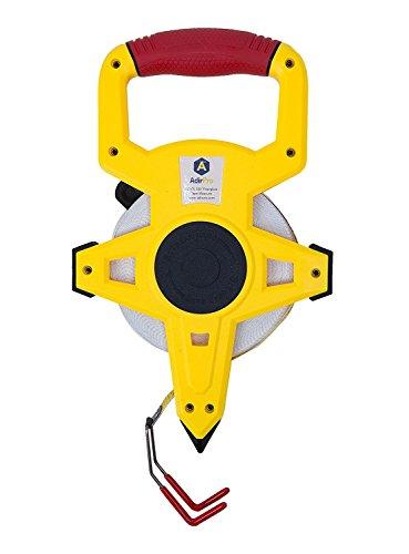 AdirPro Fiberglass 100 Appraisers Measuring Tape Tape Rule with Metal End Hook