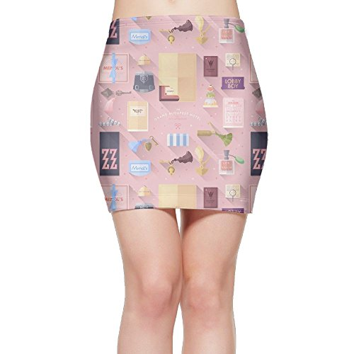 Grand Budapest Hotel Women's Above The Knee Sexy Short Party MINI Pencil Skirt Plain Skater Tight (Budapest Hotel Costume)