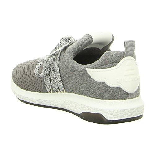 BULLBOXER 067003f5t_grey - Zapatos de cordones de tela para mujer gris