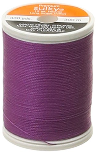 - Sulky Of America 12wt Cotton Thread, 330 yd, Orchid Kiss