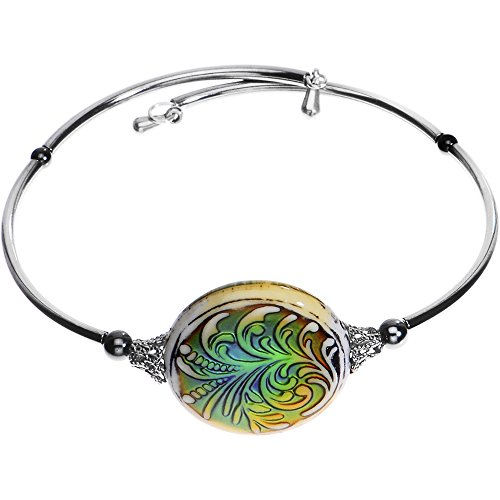 Body Candy Handcrafted Fleur Mood Cuff Bracelet Created with Swarovski Crystals (Candy Nickles compare prices)